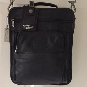 Tumi leather NEIMAN MARCUS LTD EDT Euro travel bag